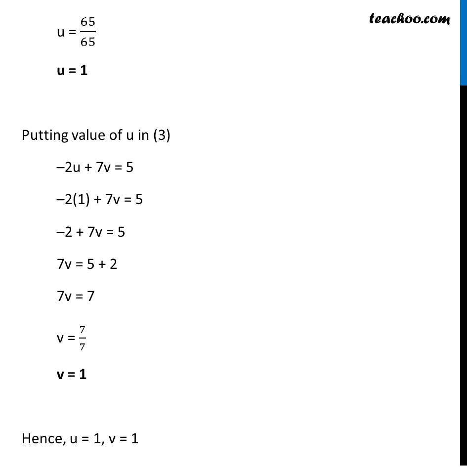 Ex 3.6, 1 (v) and (vi) - Chapter 3 Class 10 Pair of Linear Equations in Two Variables - Part 4