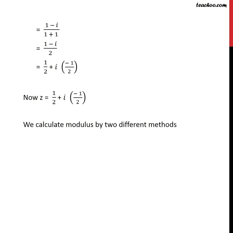 Example 13  - Chapter 5 Class 11 Complex Numbers - Part 9