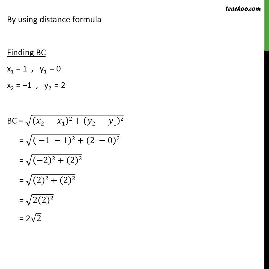 Ex 7.1, 6 - Chapter 7 Class 10 Coordinate Geometry - Part 3