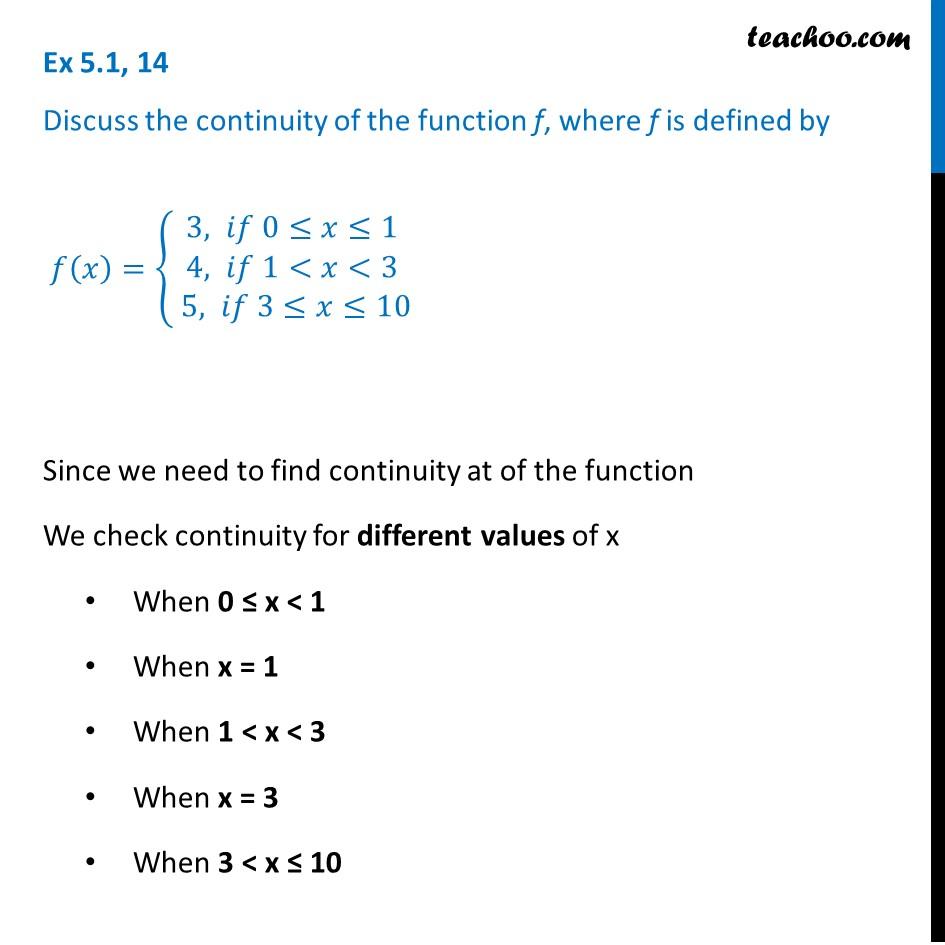 Ex 5.1, 14 - Ex 5.1