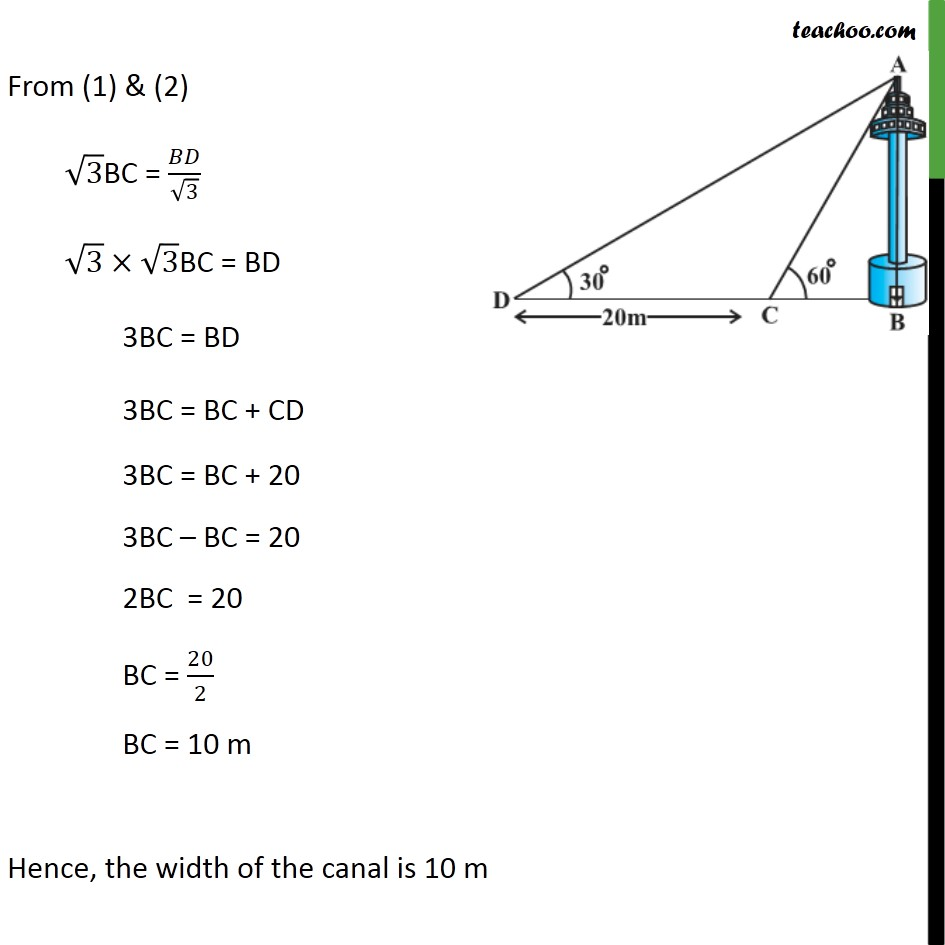 Ex 9.1, 11 - Chapter 9 Class 10 Some Applications of Trigonometry - Part 3