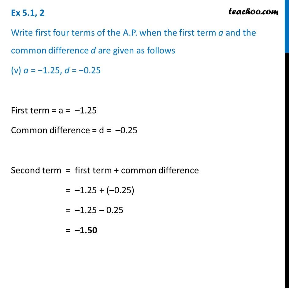 Ex 5.1, 2 - Chapter 5 Class 10 Arithmetic Progressions - Part 9