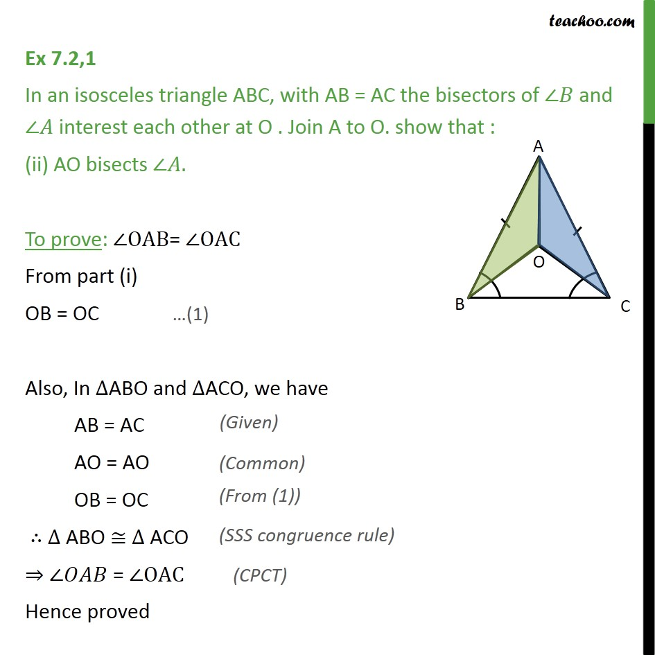 Ex 7.2, 1 - Chapter 7 Class 9 Triangles - Part 3
