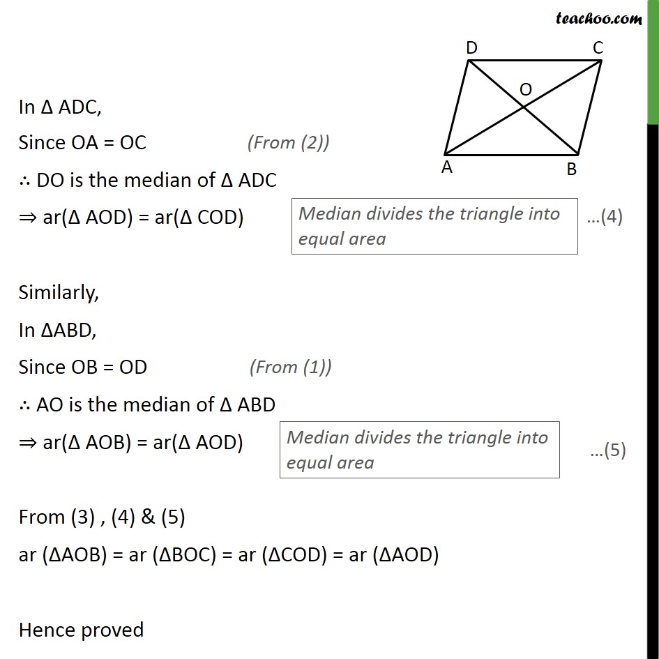 Ex 9.3, 3 - Chapter 9 Class 9 Areas of Parallelograms and Triangles - Part 2