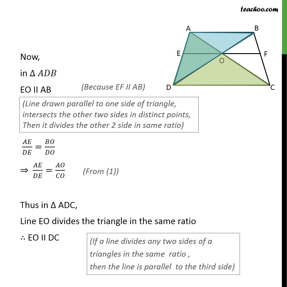 Ex 62 10 diagonals of quadrilateral abcd intersect each last updated at may 29 2018 by teachoo ex 62 10 diagonals of quadrilateral abcd ccuart Image collections