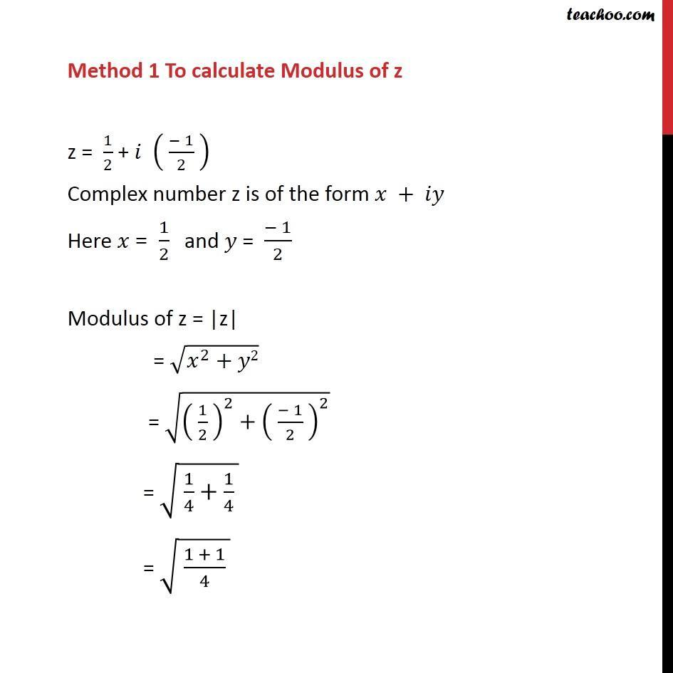 Example 13  - Chapter 5 Class 11 Complex Numbers - Part 10