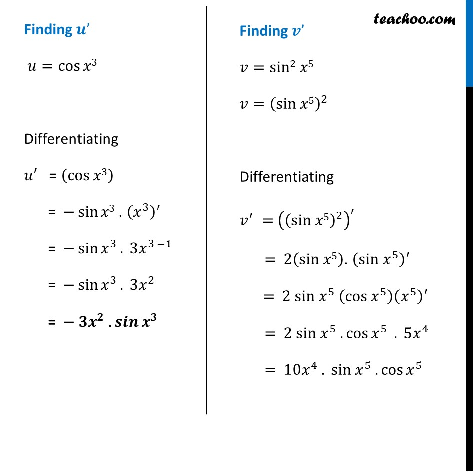 Ex 5.2, 6 - Chapter 5 Class 12 Continuity and Differentiability - Part 2