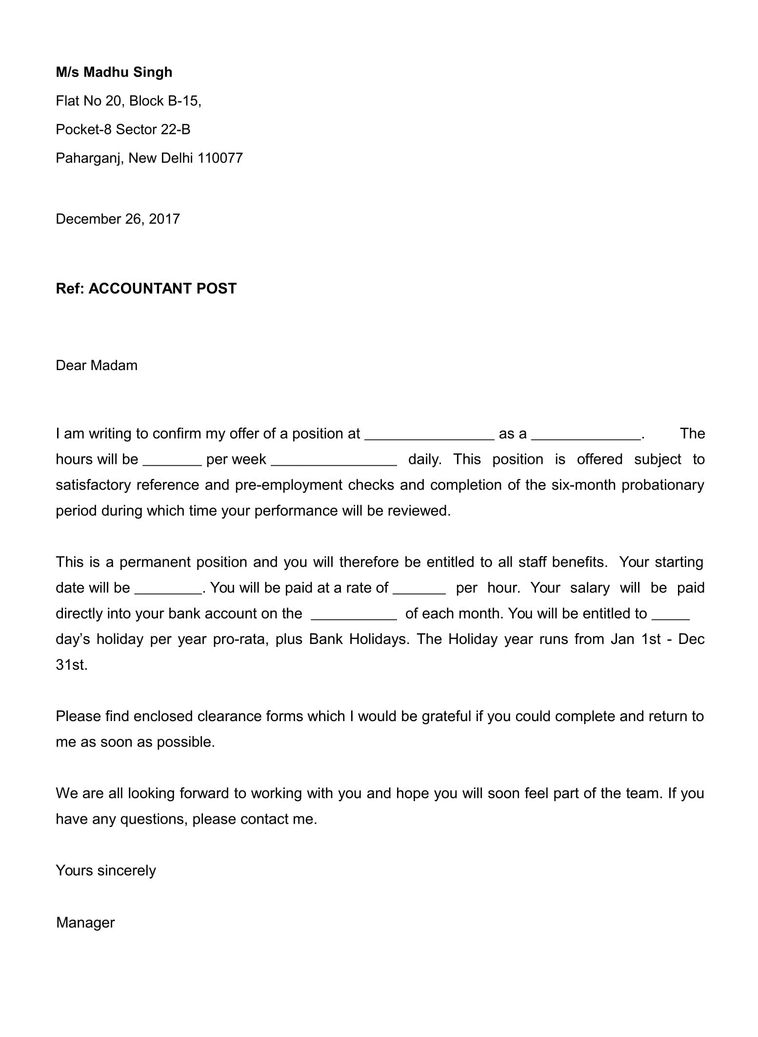 Offer Letters Amp Appointment Letter Job And Business
