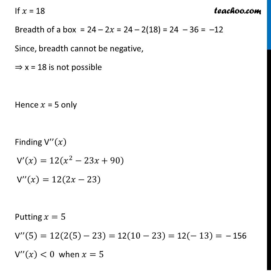 Ex 6.5,18 - Chapter 6 Class 12 Application of Derivatives - Part 4