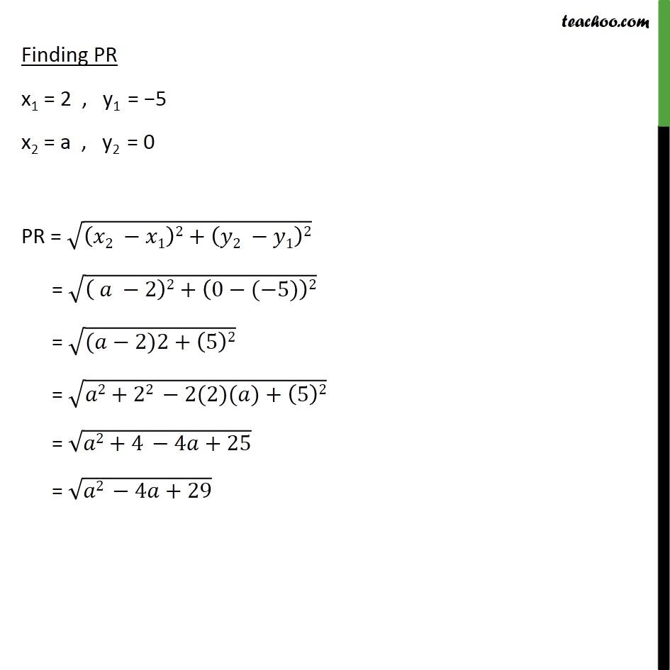 Ex 7.1, 7 - Chapter 7 Class 10 Coordinate Geometry - Part 2