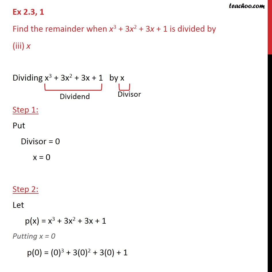 Ex 2.3,1 - Chapter 2 Class 9 Polynomials - Part 5