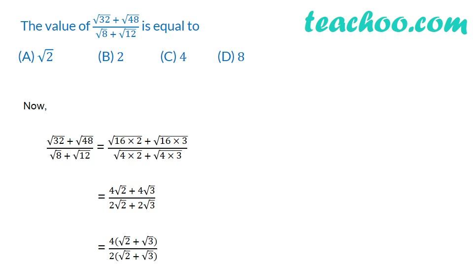 Multiple Choice Questions - Chapter 1 Class 9 Maths - Part 2