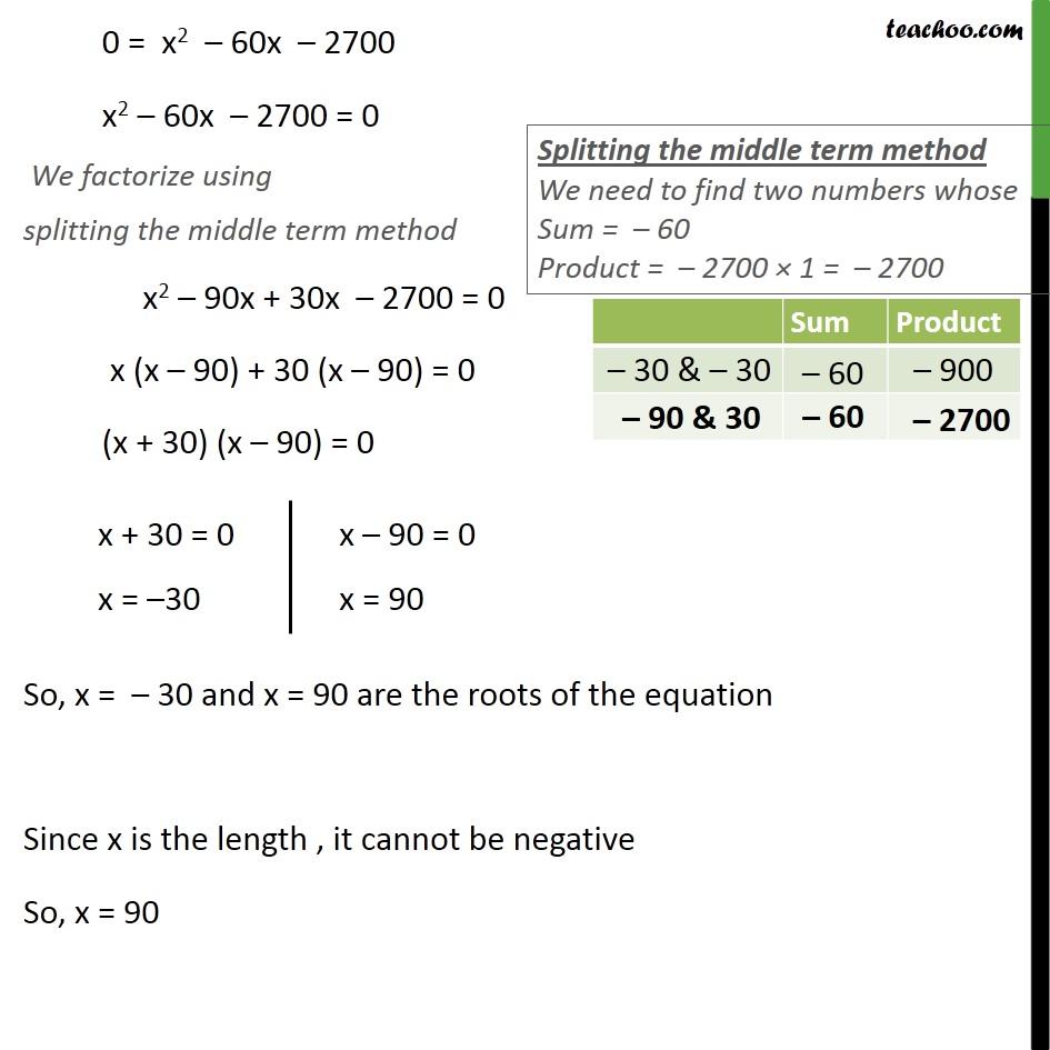 Ex 4.3, 6 - Chapter 4 Class 10 Quadratic Equations - Part 3