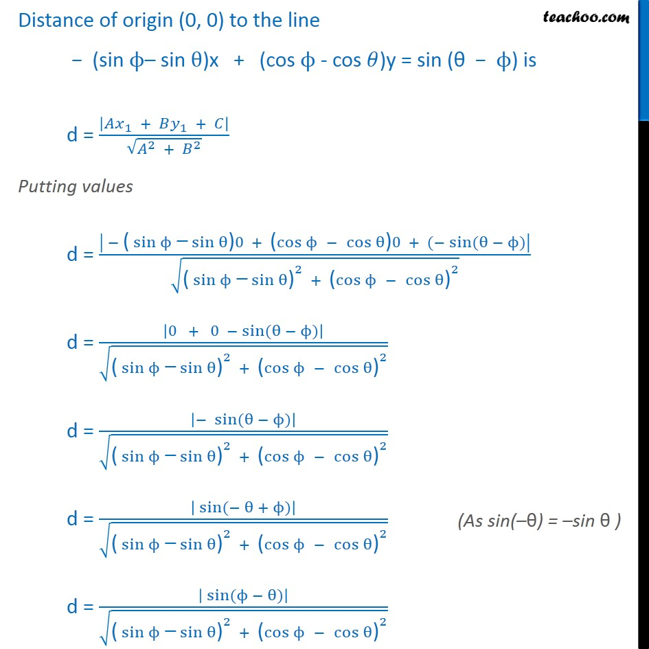 Misc 5 - Chapter 10 Class 11 Straight Lines - Part 4