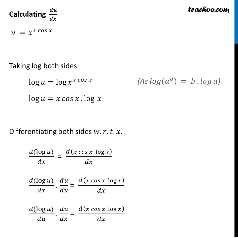 Ex 5.5, 10 - Chapter 5 Class 12 Continuity and Differentiability - Part 2