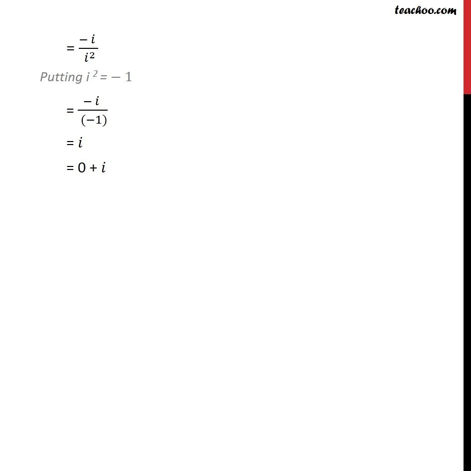 Ex 5.1, 3 - Chapter 5 Class 11 Complex Numbers - Part 2
