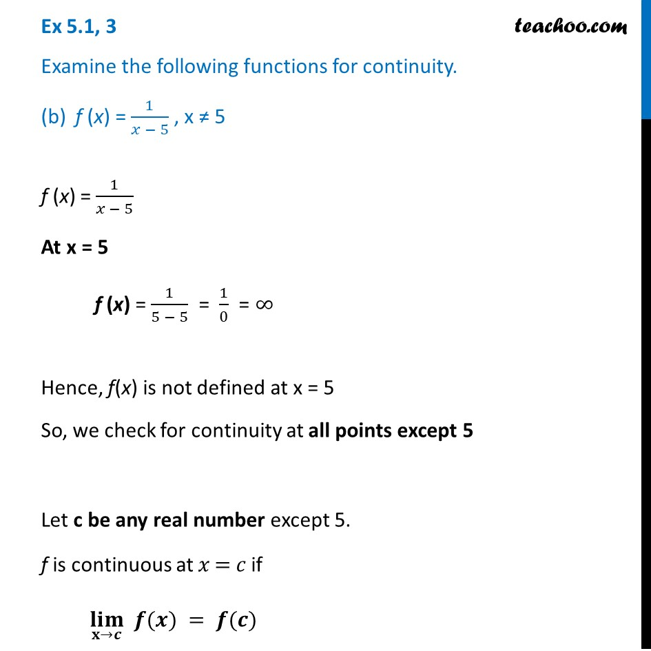 Ex 5.1 ,3 - Chapter 5 Class 12 Continuity and Differentiability - Part 3