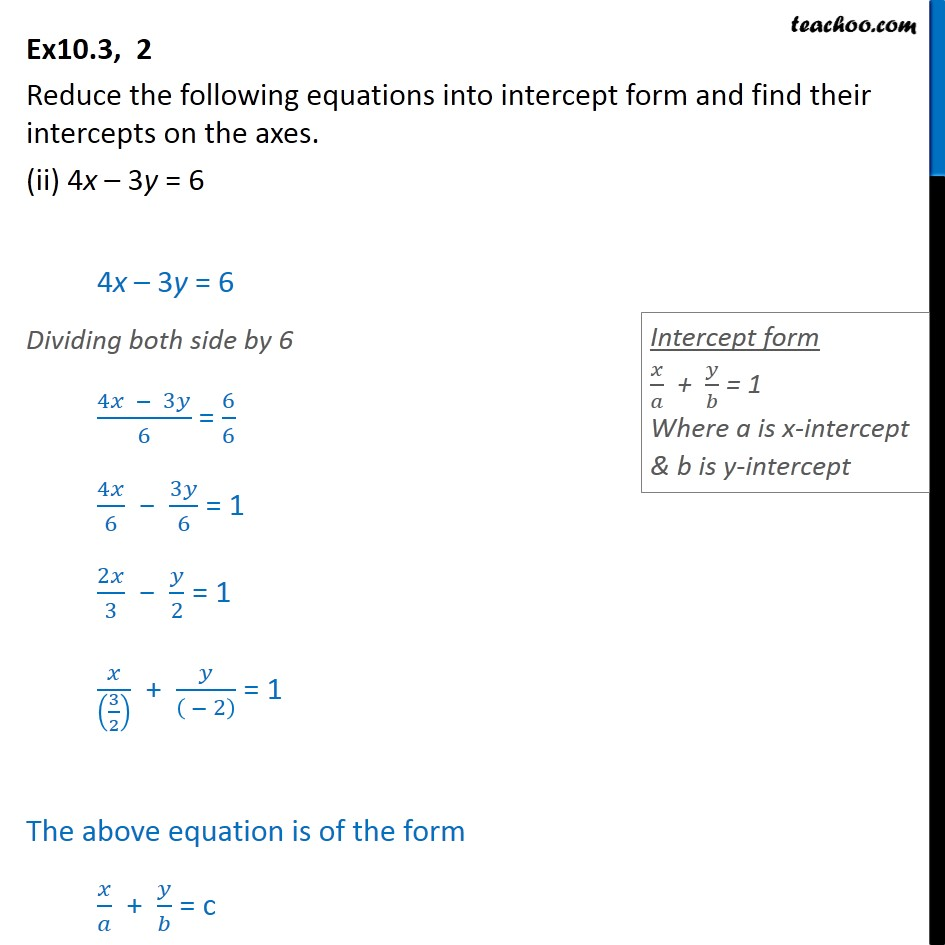 Ex 10.3, 2 - Chapter 10 Class 11 Straight Lines - Part 3