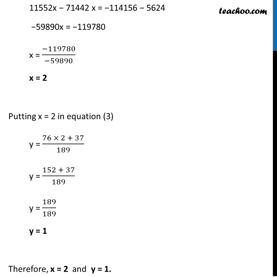 Ex 3.7, 7 (Optional) - Chapter 3 Class 10 Pair of Linear Equations in Two Variables - Part 19