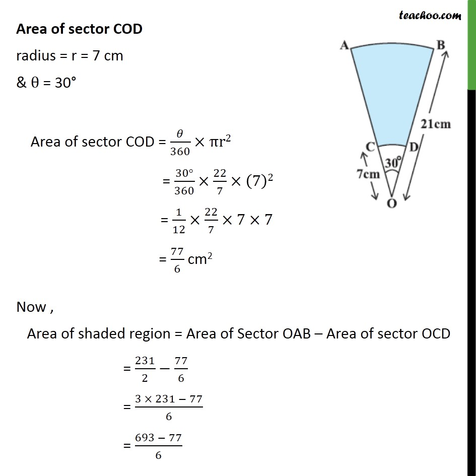Ex 12.3, 14 - Chapter 12 Class 10 Areas related to Circles - Part 2