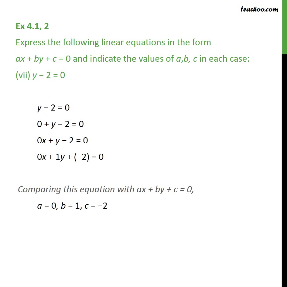 Ex 4.1, 2 - Chapter 4 Class 9 Linear Equations in Two Variables - Part 7
