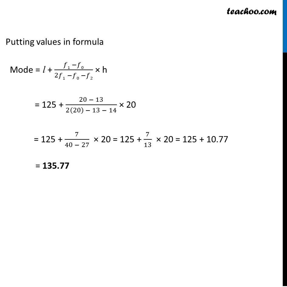 Ex 14.3, 1 - Chapter 14 Class 10 Statistics - Part 3