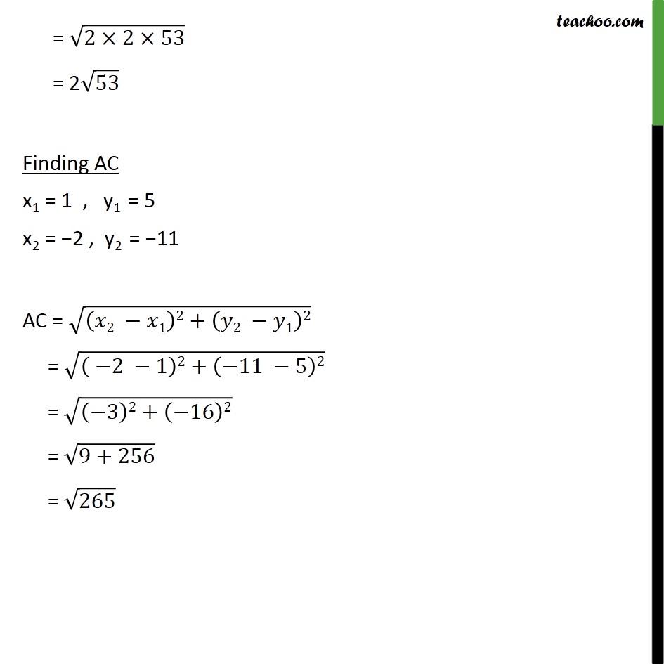 Ex 7.1, 3 - Chapter 7 Class 10 Coordinate Geometry - Part 4