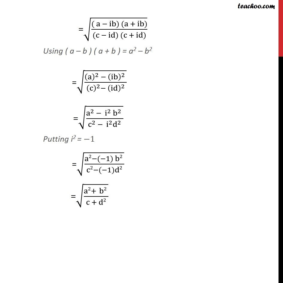Misc 4 - Chapter 5 Class 11 Complex Numbers - Part 3