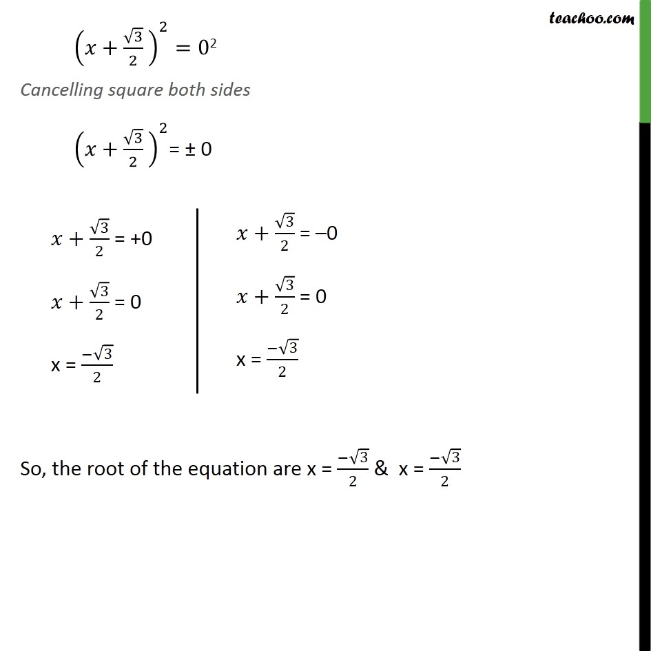 Ex 4.3, 1 (iii) - Chapter 4 Class 10 Quadratic Equations - Part 3