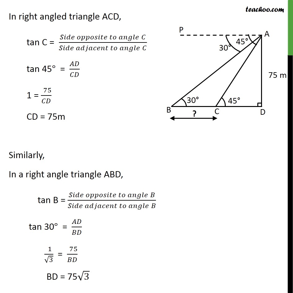 Ex 9.1, 13 - Chapter 9 Class 10 Some Applications of Trigonometry - Part 3