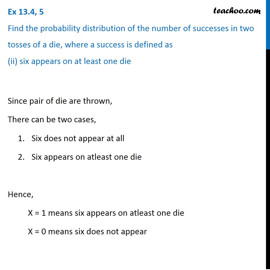 Ex 13.4, 5 - Chapter 13 Class 12 Probability - Part 3