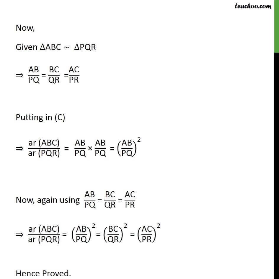 4 Theorem 6.6 - Class 10 - Now again using AB  PQ  = BC  QR = AC PR.jpg
