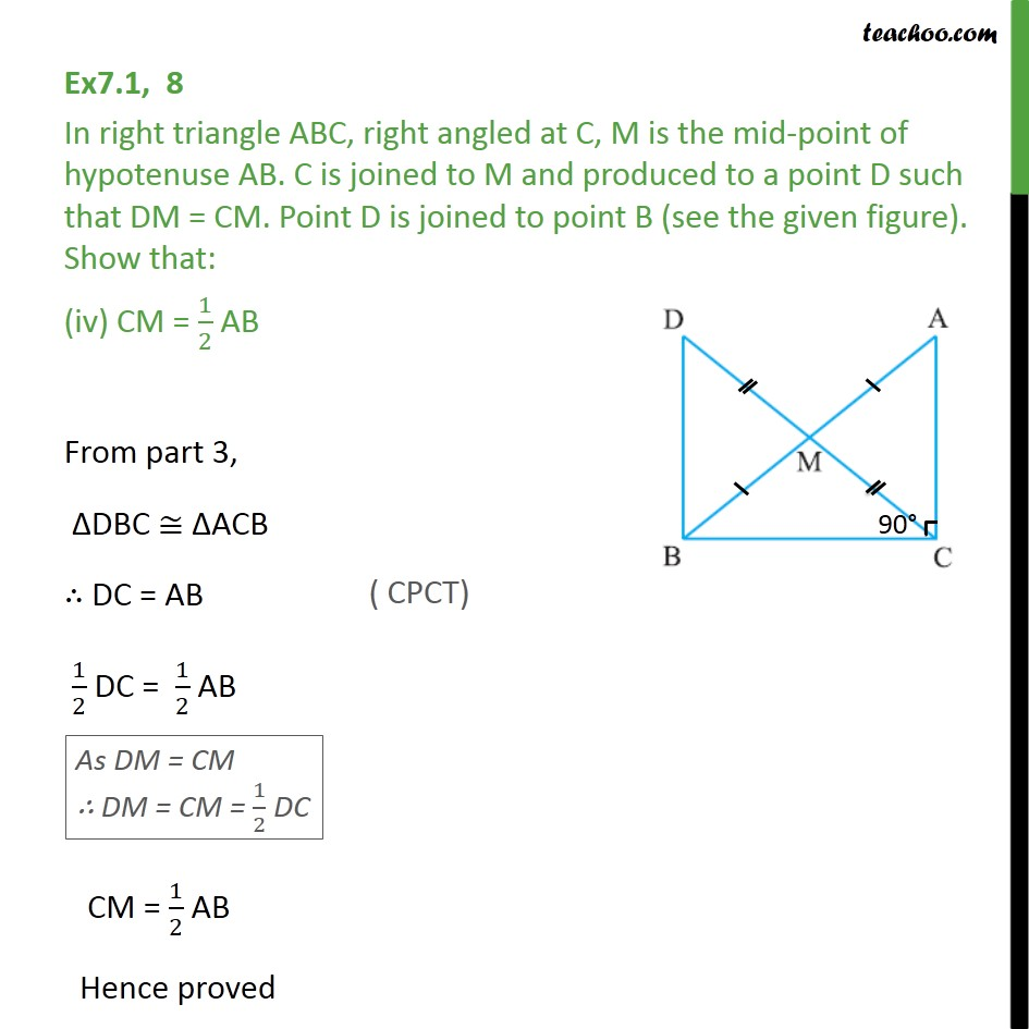 Ex 7.1, 8 - Chapter 7 Class 9 Triangles - Part 6