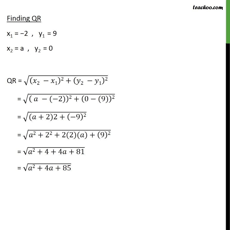 Ex 7.1, 7 - Chapter 7 Class 10 Coordinate Geometry - Part 3
