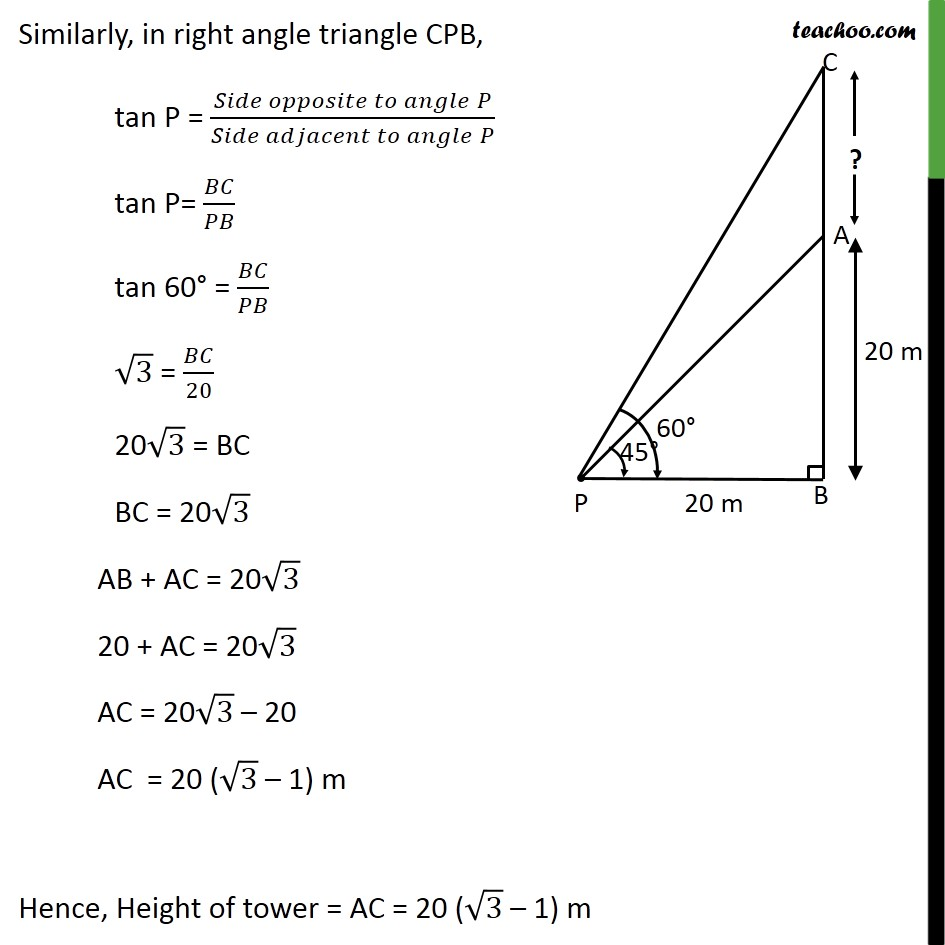 Ex 9.1, 7 - Chapter 9 Class 10 Some Applications of Trigonometry - Part 3