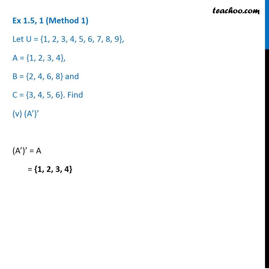 Ex 1.5, 1 - Chapter 1 Class 11 Sets - Part 9