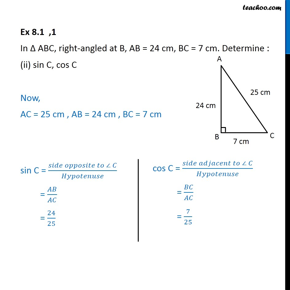 Ex 8.1, 1 - Chapter 8 Class 10 Introduction to Trignometry - Part 3