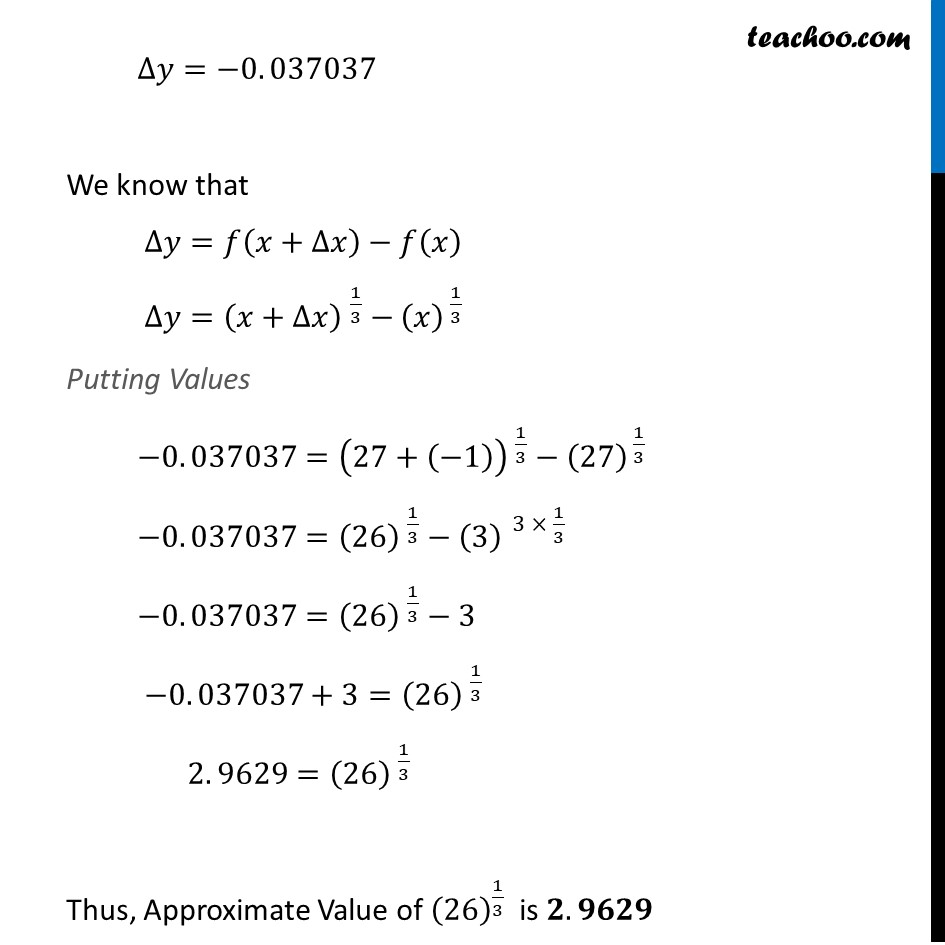Ex 6.4, 1 (vii) - Chapter 6 Class 12 Application of Derivatives - Part 3