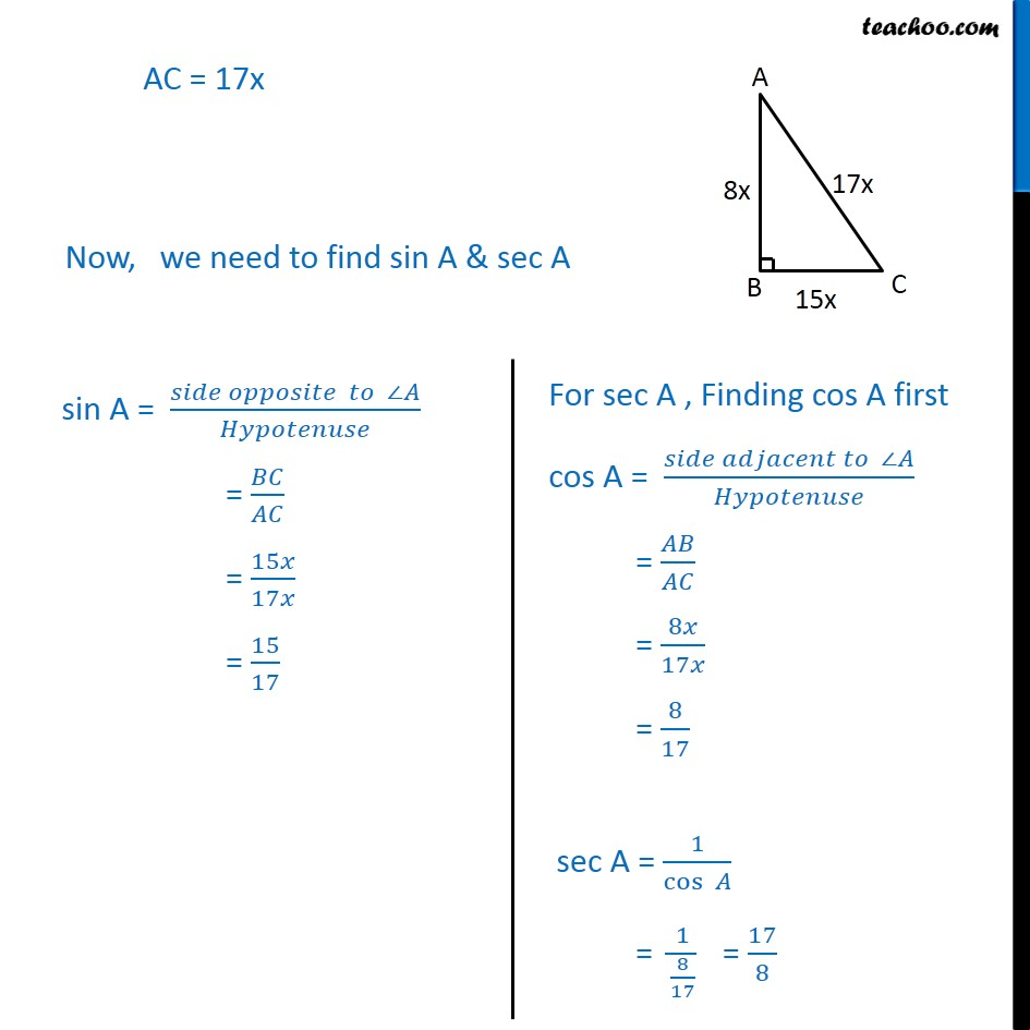 Ex 8.1, 4 - Chapter 8 Class 10 Introduction to Trignometry - Part 3
