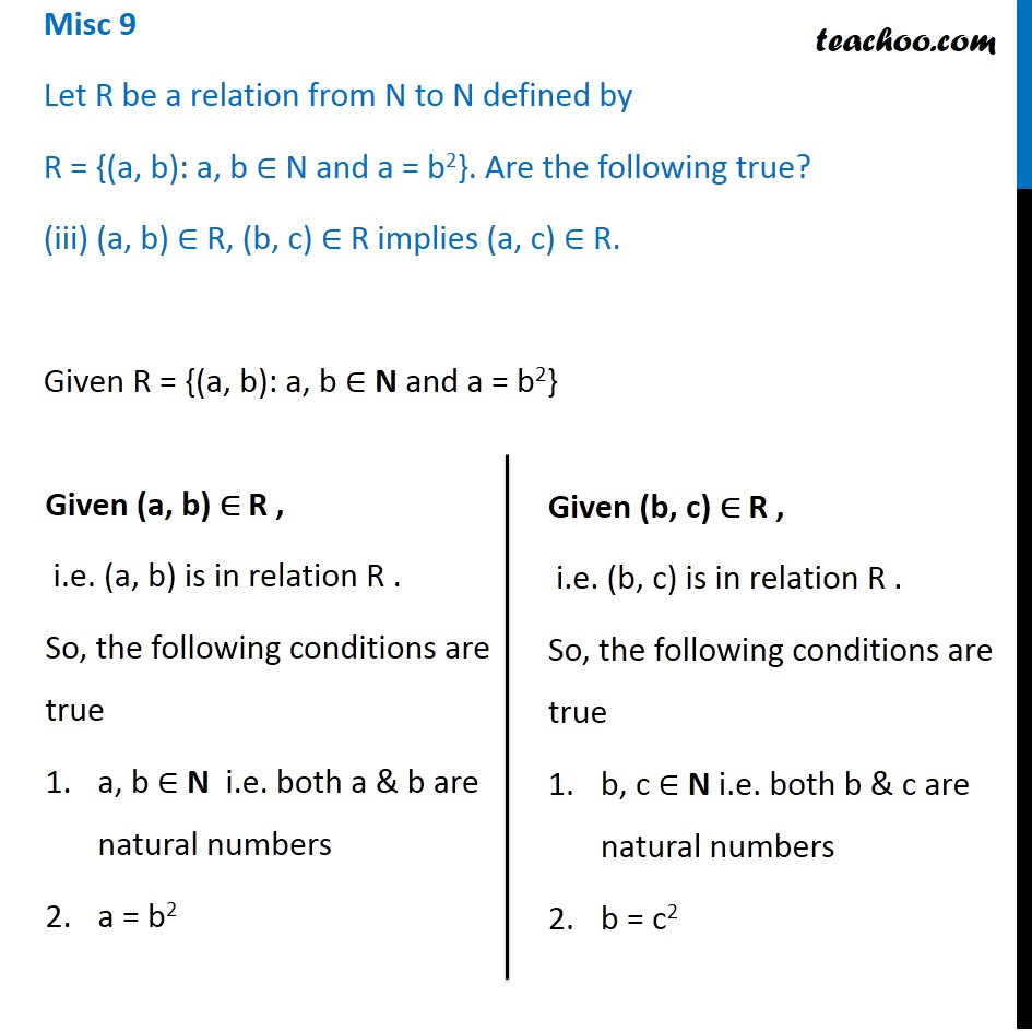 Misc 9 - Chapter 2 Class 11 Relations and Functions - Part 8