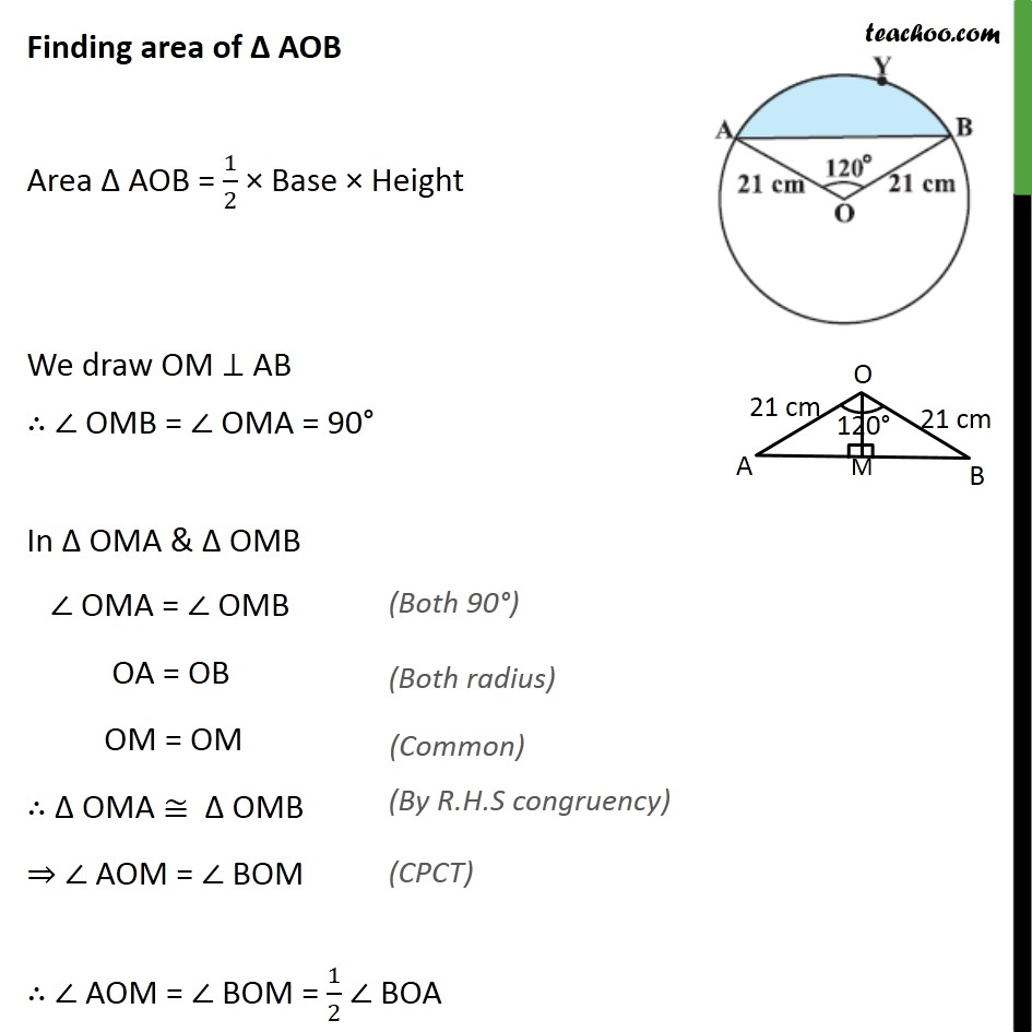 Example 3 - Chapter 12 Class 10 Areas related to Circles - Part 2