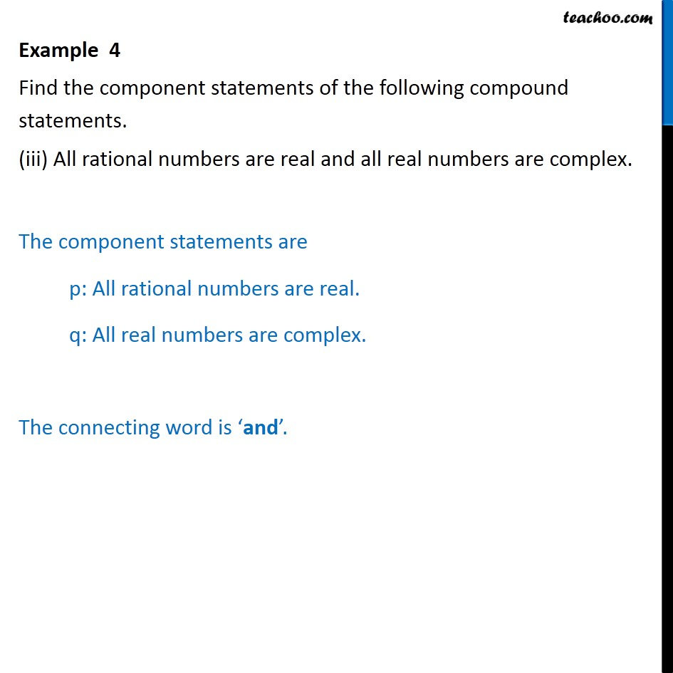 Example 4 - Chapter 14 Class 11 Mathematical Reasoning - Part 3