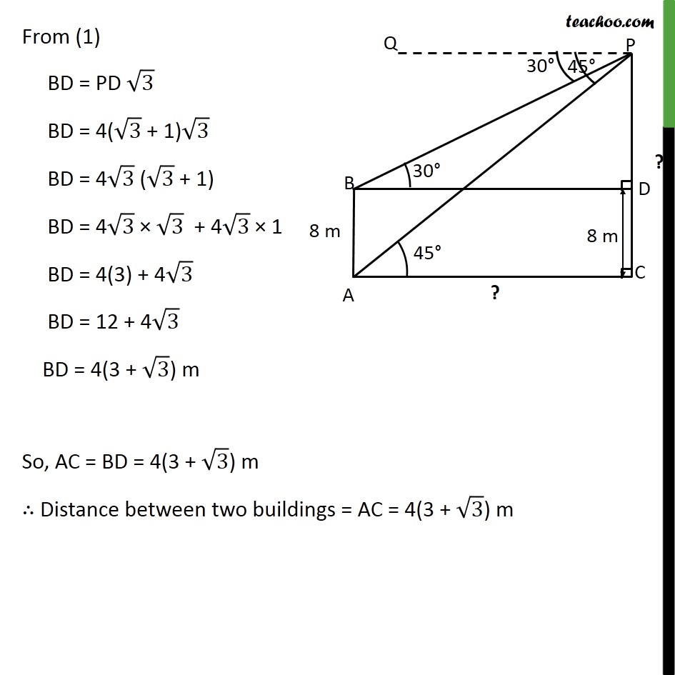 Example 6 - Chapter 9 Class 10 Some Applications of Trigonometry - Part 6