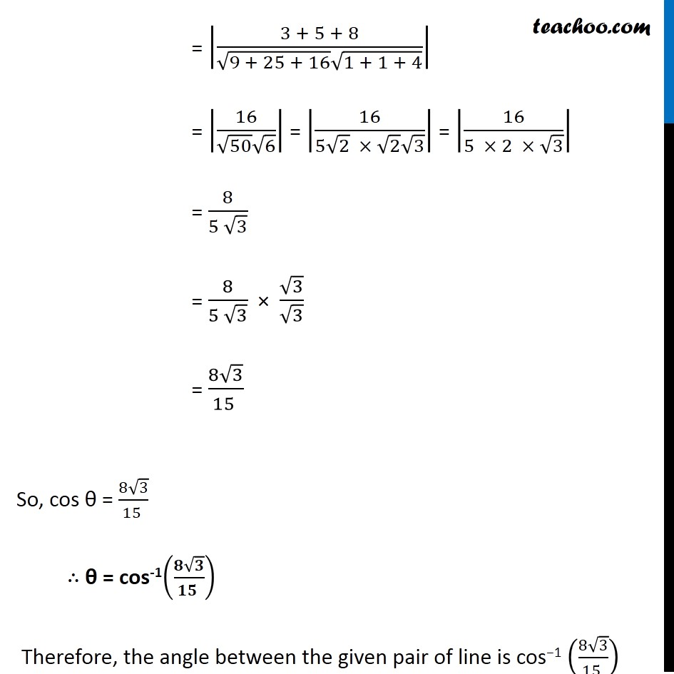 Example 10 - Chapter 11 Class 12 Three Dimensional Geometry - Part 3