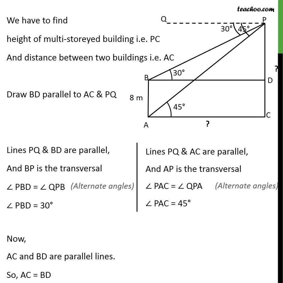 Example 6 - Chapter 9 Class 10 Some Applications of Trigonometry - Part 2