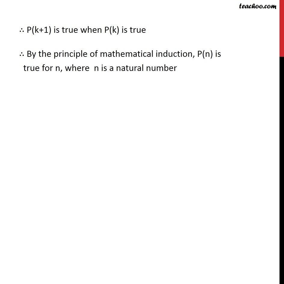 Ex 4.1, 15 - Chapter 4 Class 11 Mathematical Induction - Part 4