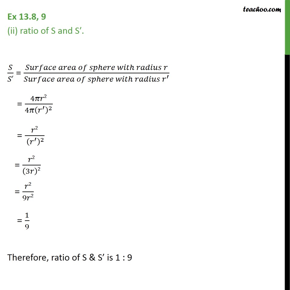 Ex 13.8, 9 - Chapter 13 Class 9 Surface Areas and Volumes - Part 3