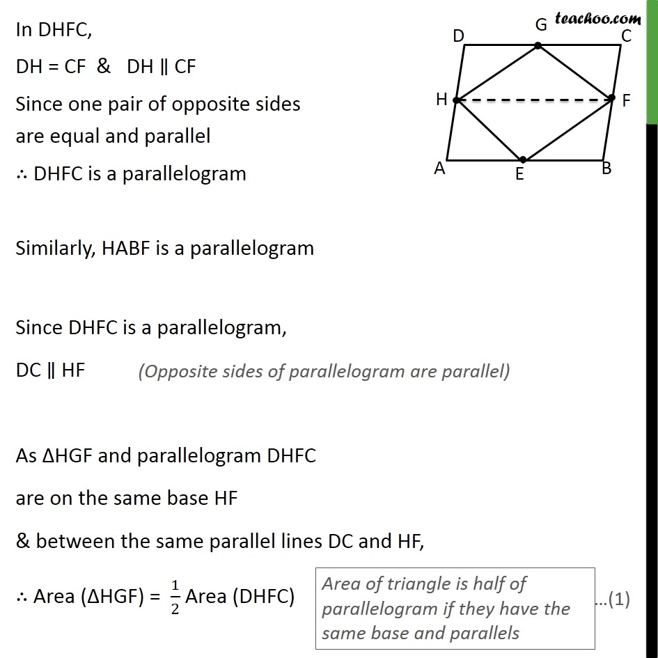 Ex 9.2, 2 - Chapter 9 Class 9 Areas of Parallelograms and Triangles - Part 2