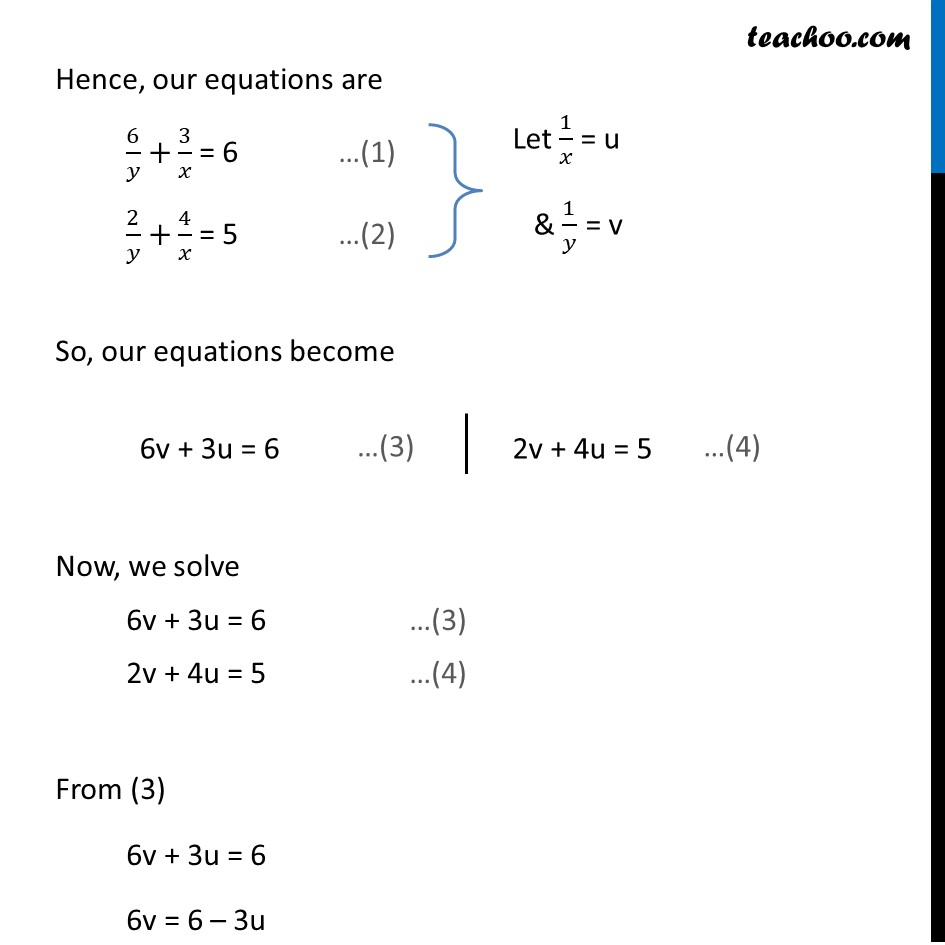 Ex 3.6, 1 (v) and (vi) - Chapter 3 Class 10 Pair of Linear Equations in Two Variables - Part 7