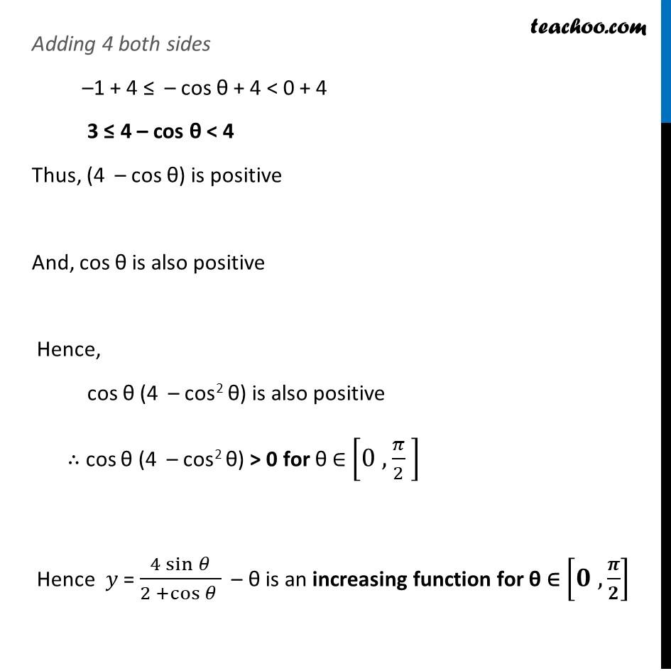 Ex 6.2,9 - Chapter 6 Class 12 Application of Derivatives - Part 5